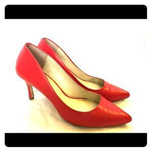 Coral BCBG Generation leather pumps- gently used
